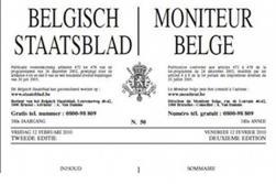 Page du Moniteur belge