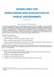 Cover Guidelines for Monitoring and Evaluation of AVR(R) Programmes (EMN)