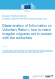 Cover image EMN study on dissemination of information on voluntary return