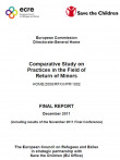 Cover page of the comparative study from ECRE