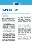 First page of EMN Inform on Migrant Access to Social Security