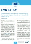 Cover Image EMN Inform Dissemination of information on voluntary return