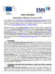 First page of EMN Inform Responding Migratory Pressures 2011