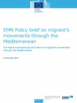 Cover page of EMN Policy Brief Migrants' movements through the Mediterranean