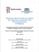 First page of the publication on the marital choice of migrants in Belgium