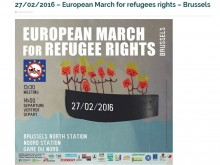 Poster of 27 February European March for Refugees' Rights