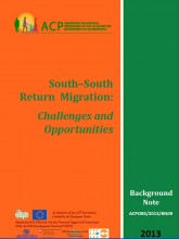 Cover page of this publication on South South Return Migration