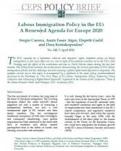 AfbeeldiCover page CEPS - Policy Brief N°240 Labour Immigration Policy in the EU