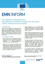 Cover EMN Inform on the integration of beneficiaries of international protection