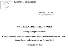 Cover Commission Staff Working Paper accompanying the Annual Report on Immigrati