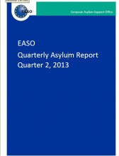Cover of EASO quarterly asylum report - Quarter 2, 2013