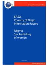 Cover image EASO report on sex trafficking of women in Nigeria