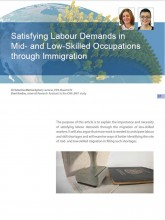 "Cover page of the Article ""Satisfying labour demands through immigration"""