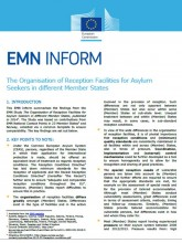 First page of EMN Inform on reception facilities