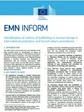 First page of EMN Inform on Identification of Trafficking victims