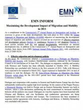 First page of EMN Inform Development Impact of Migration 2011