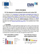 First page of EMN Inform International protection 2011