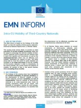 First page of EMN Inform Intra EU Mobility 1/3 Country Nationals