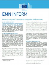 First page of the EMN Inform Migrant's movements through the Mediterranean