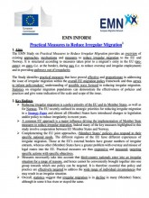 First page of EMN Inform on Practical Measures Irr Migration