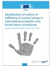 Cover page of synthesis report Identification Trafficking Victims