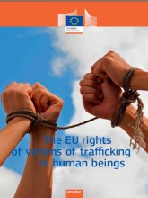 Cover page of report on EU rights of victims of trafficking