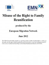 Cover page of EMN synthesis report on Misuse of Family Reunification Right