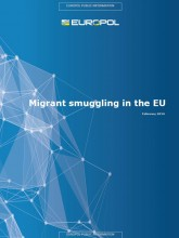 Cover page of the Migrant Smuggling in the EU Report