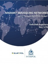 Cover page of the Europol-Interpol report on migrant smuggling