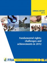 Cover page of FRA annual report 2012