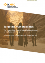 "Cover picture of study ""targeting vulnerabilities"" (ICMPD)"