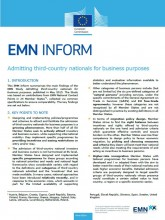 1st page of Inform on business migration