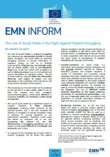 Cover EMN Inform on migrant smuggling
