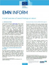 First page of EMN inform on recent findings on return