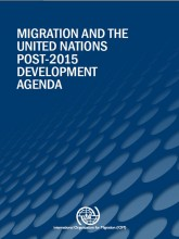"Cover of the IOM publication ""Migration & UN Post 2015 develop agenda"""