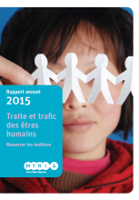 Cover image - Annual Report on trafficking and smuggling 2015 (Myria)