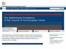 Screenshot of NL presidency website