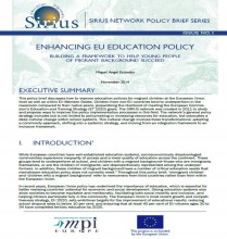 Capture d'écran Sirius Policy Brief