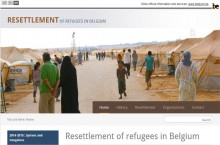 Screen shot of website resettlement in Belgium