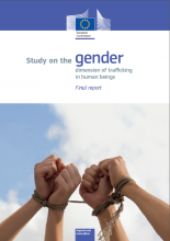 Cover picture Study on the gender dimension of trafficking in human beings (Euro
