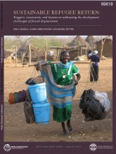 Cover page of Sustainable refugee return