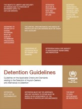 Cover page of UNHCR detention guidelines